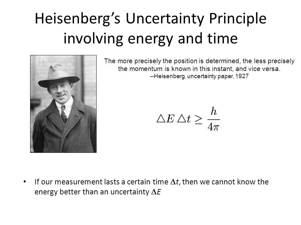 Heisenberg's Uncertainty Principle involving energy and time