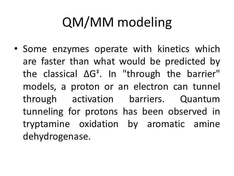 QM/MM modeling