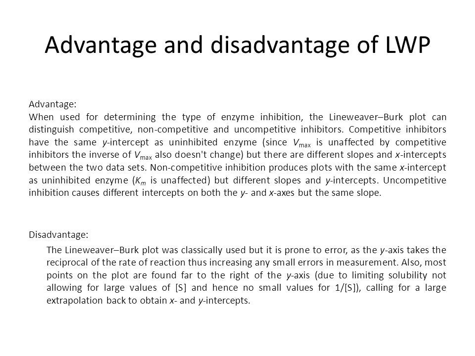 Advantage and disadvantage of LWP