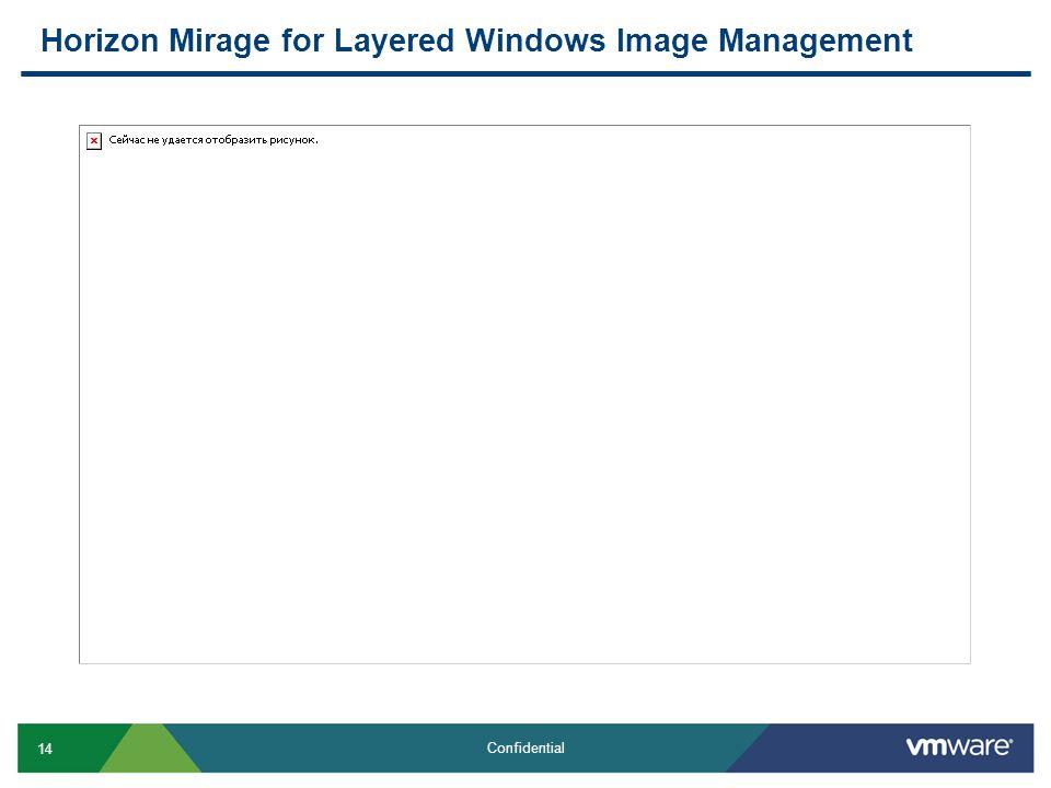 Horizon Mirage for Layered Windows Image Management