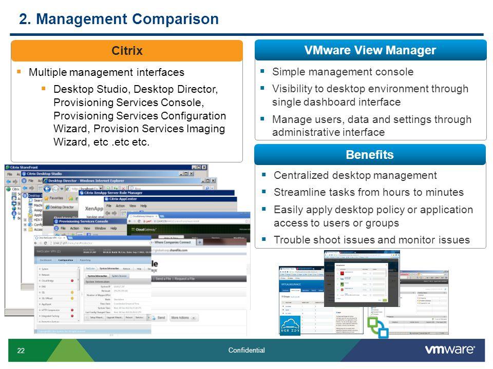2. Management Comparison