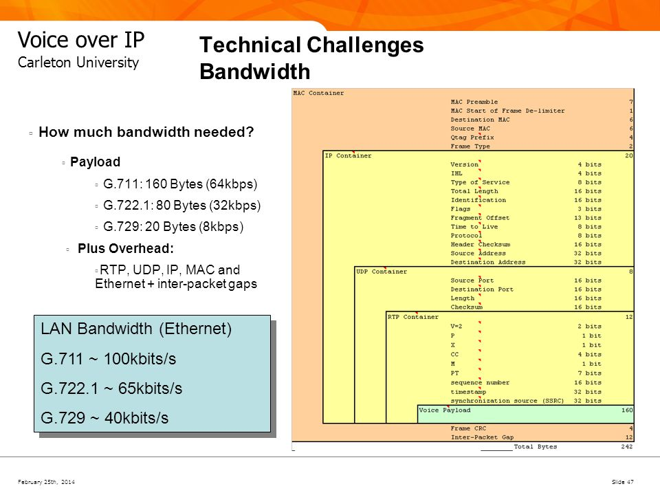 Technical Challenges Bandwidth