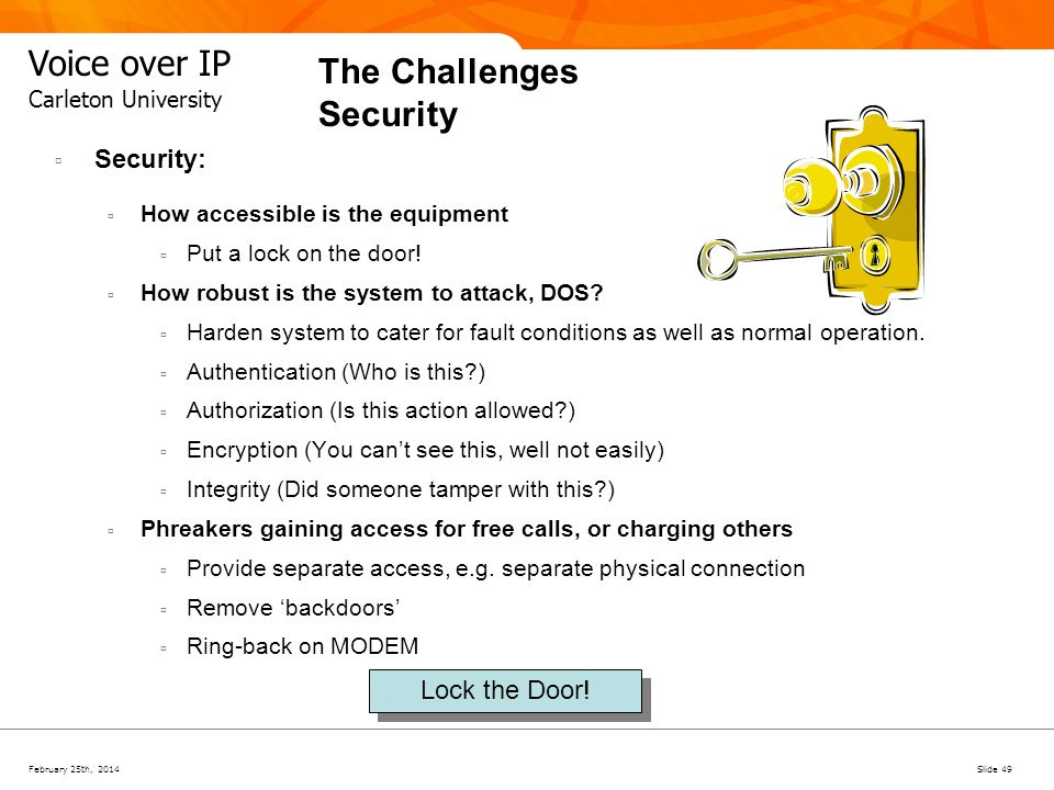 The Challenges Security