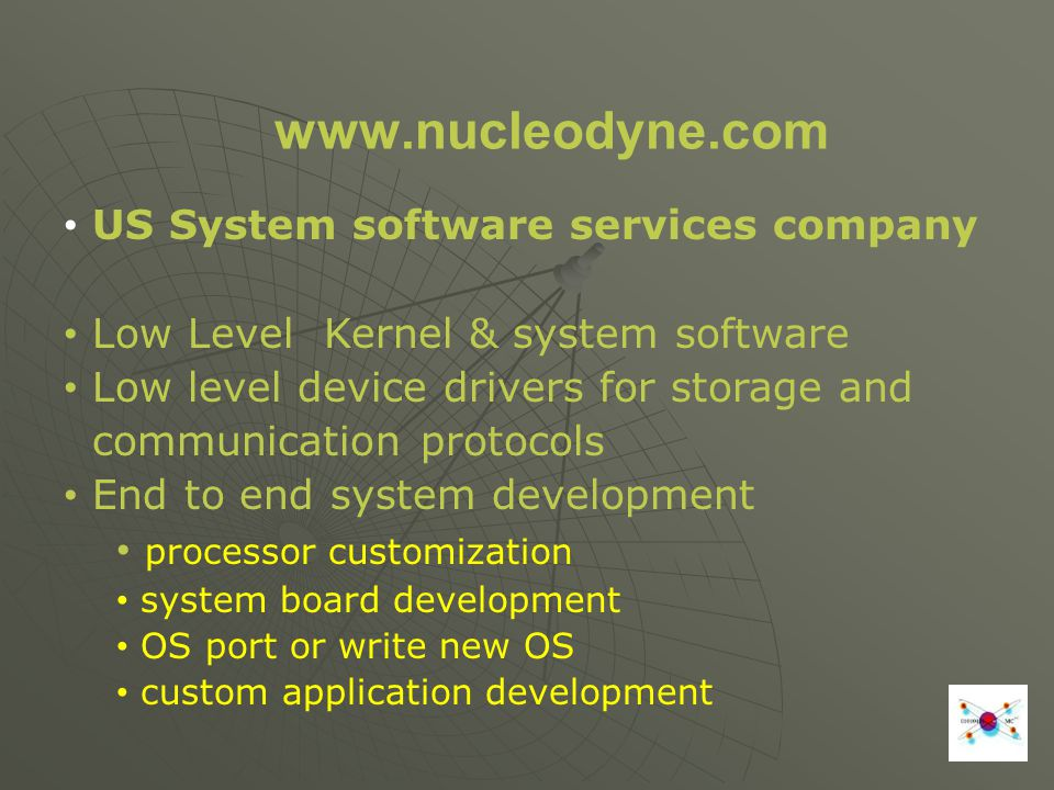 www.nucleodyne.com US System software services company