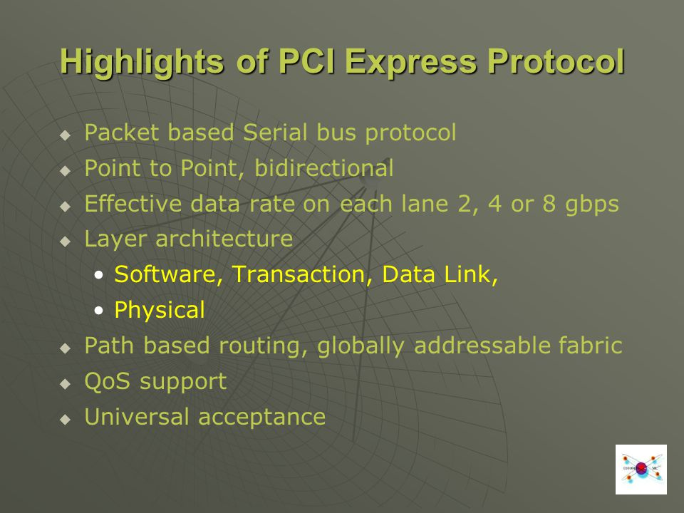 Highlights of PCI Express Protocol