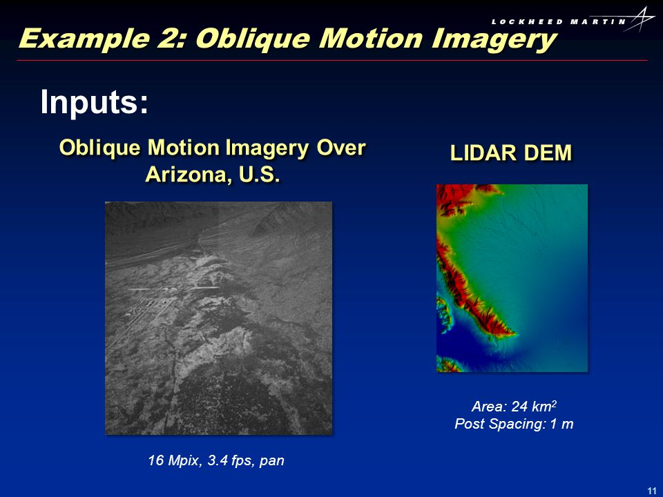 Example 2: Oblique Motion Imagery