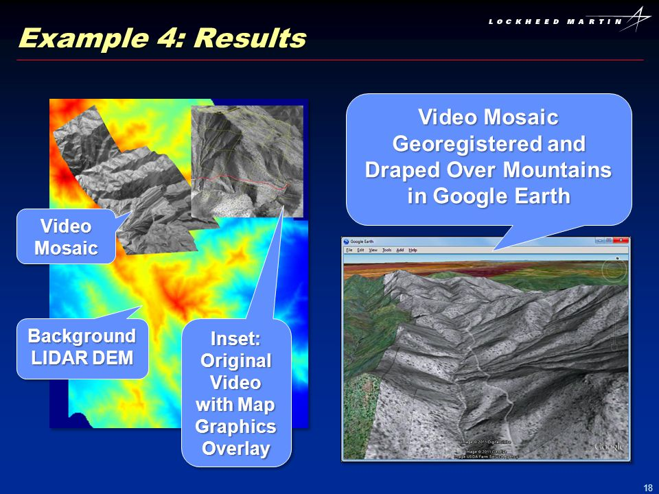 Video Mosaic Georegistered and Draped Over Mountains in Google Earth