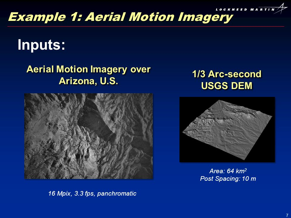 Example 1: Aerial Motion Imagery