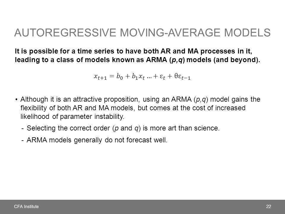 Autoregressive Moving-Average models