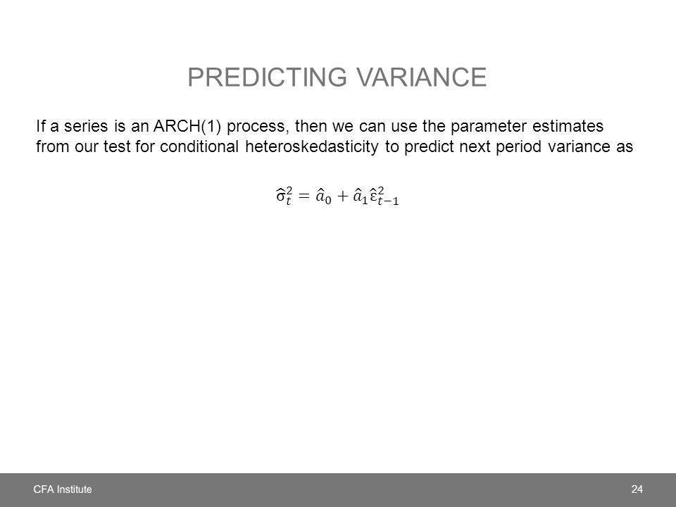 Predicting variance