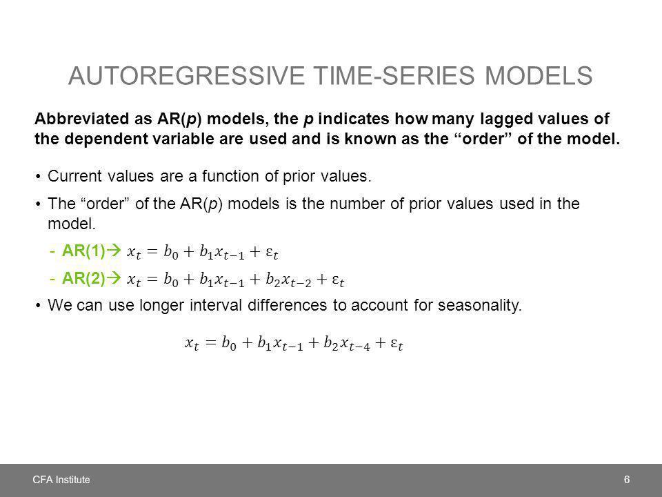 Autoregressive time-series models