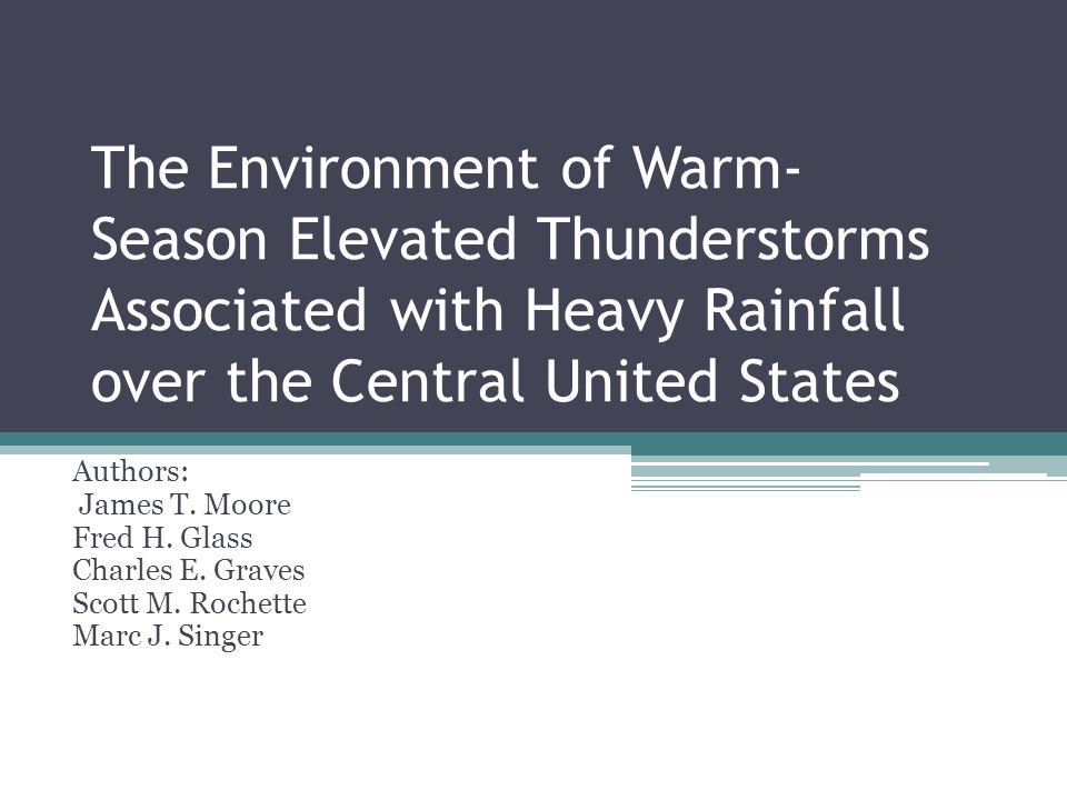 The Environment of Warm-Season Elevated Thunderstorms Associated with Heavy Rainfall over the Central United States