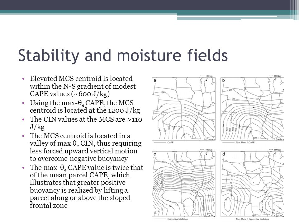 Stability and moisture fields