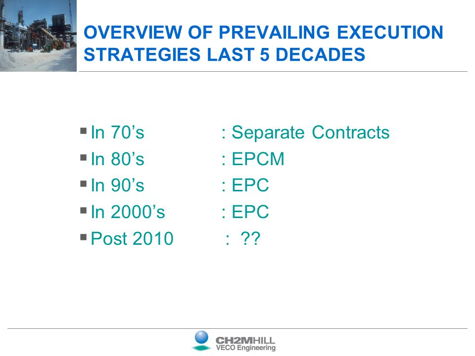 OVERVIEW OF PREVAILING EXECUTION STRATEGIES LAST 5 DECADES