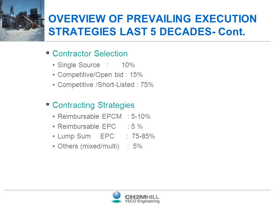 OVERVIEW OF PREVAILING EXECUTION STRATEGIES LAST 5 DECADES- Cont.
