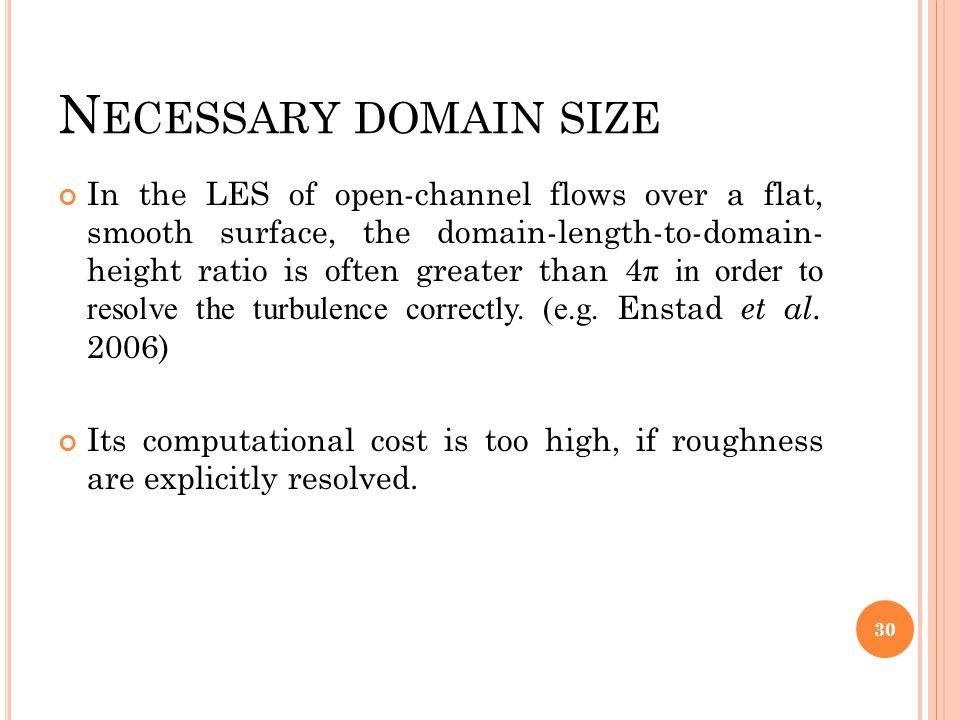 Necessary domain size