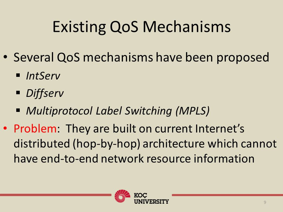 Existing QoS Mechanisms
