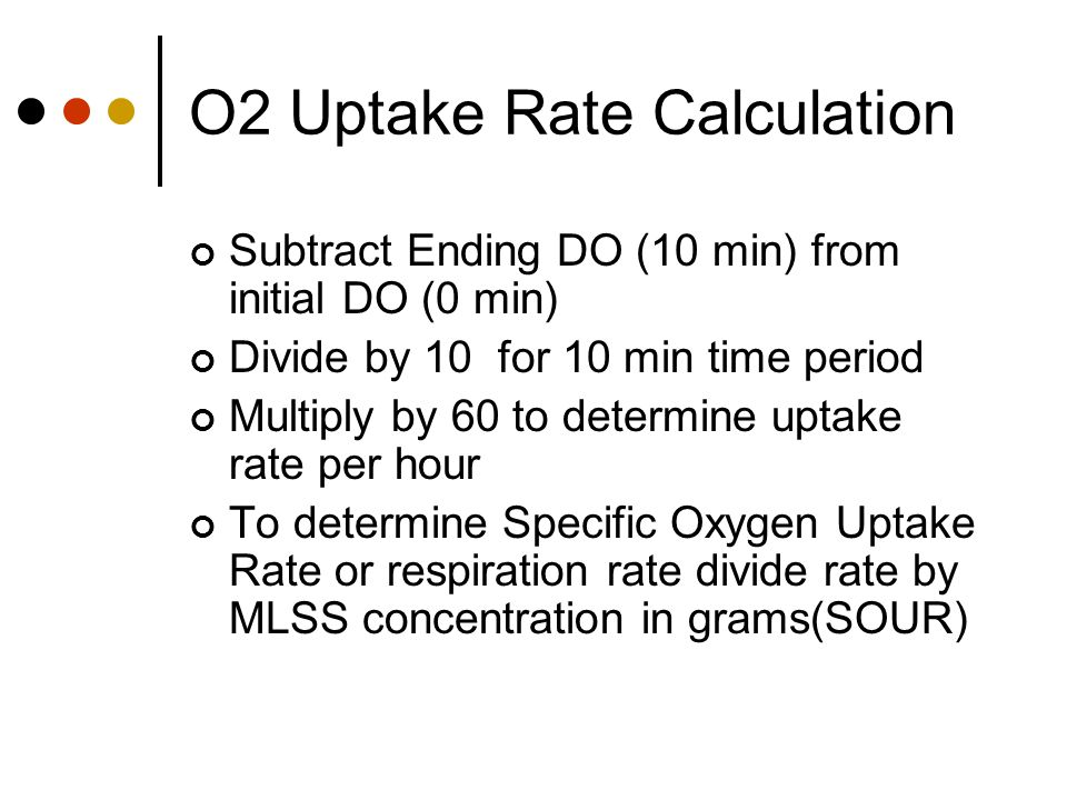 O2 Uptake Rate Calculation