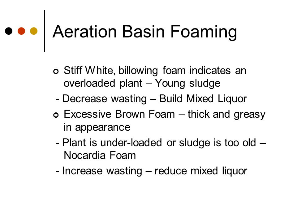 Aeration Basin Foaming