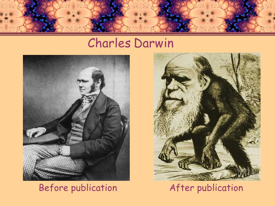 Charles Darwin Before publication After publication