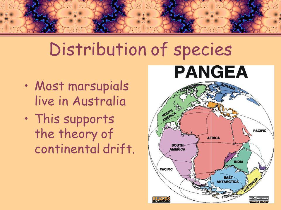 Distribution of species