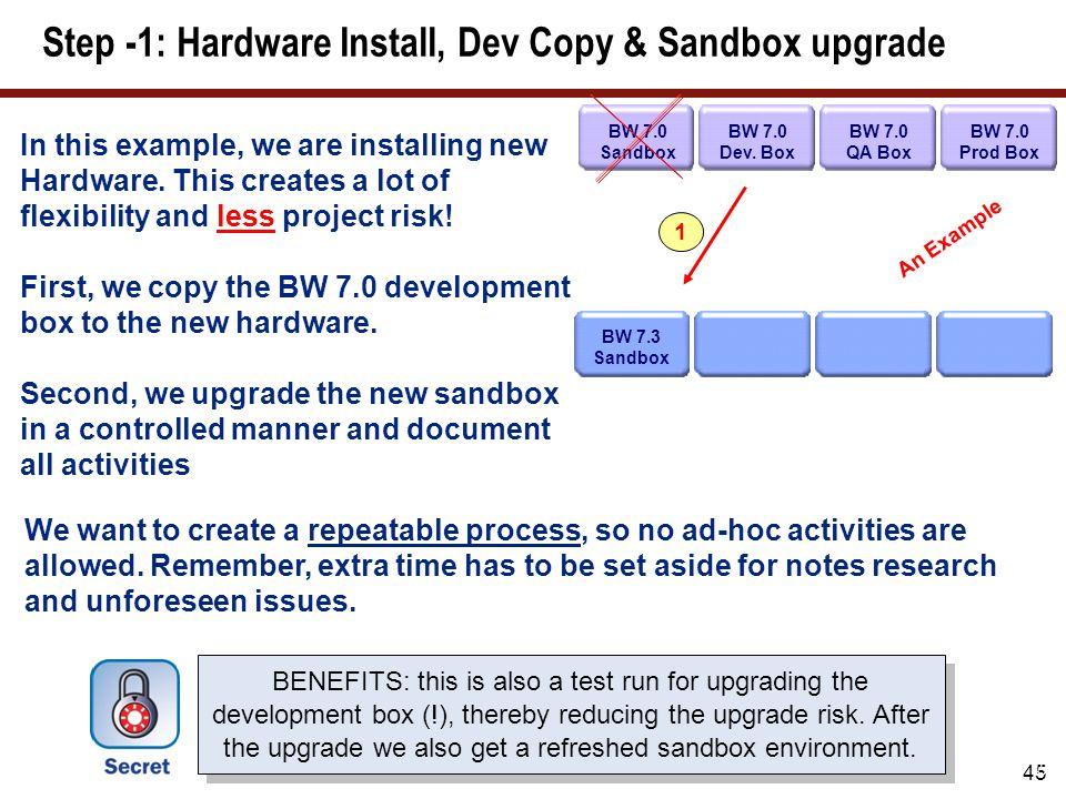 Step -2: Development box copy and upgrade