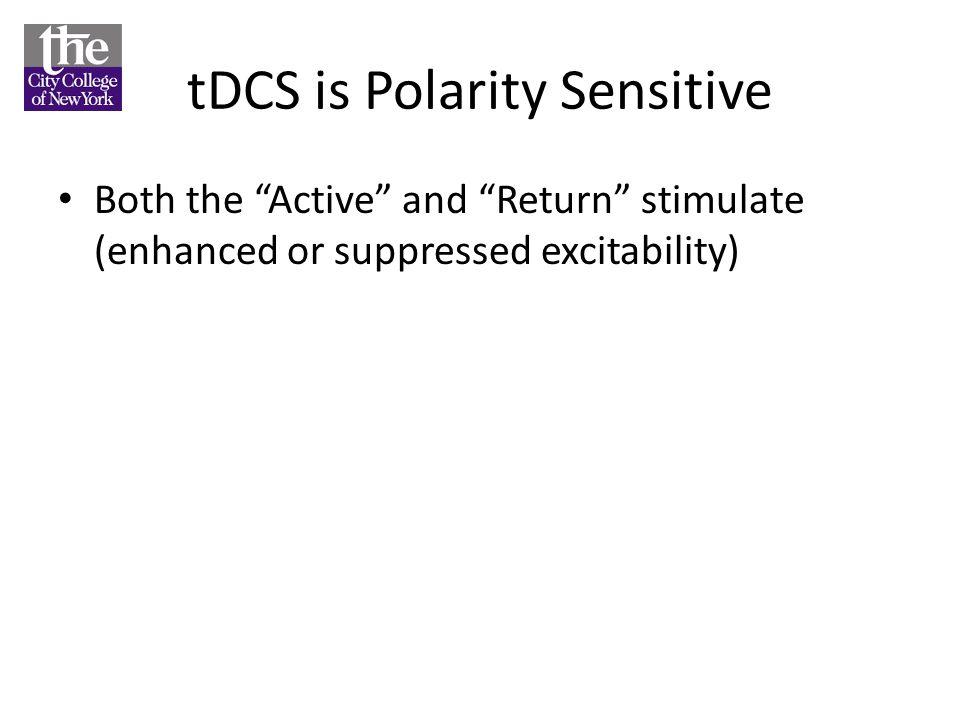 tDCS is Polarity Sensitive