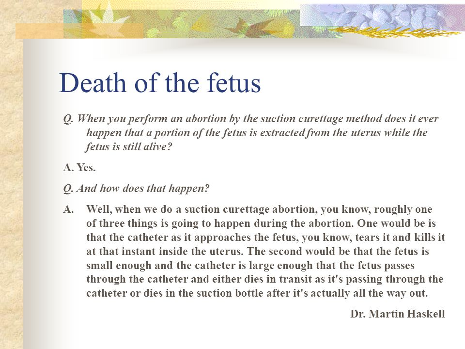 Death of the fetus