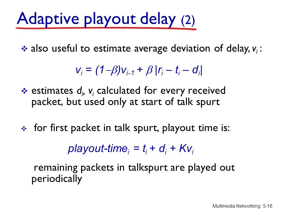 Adaptive playout delay (2)