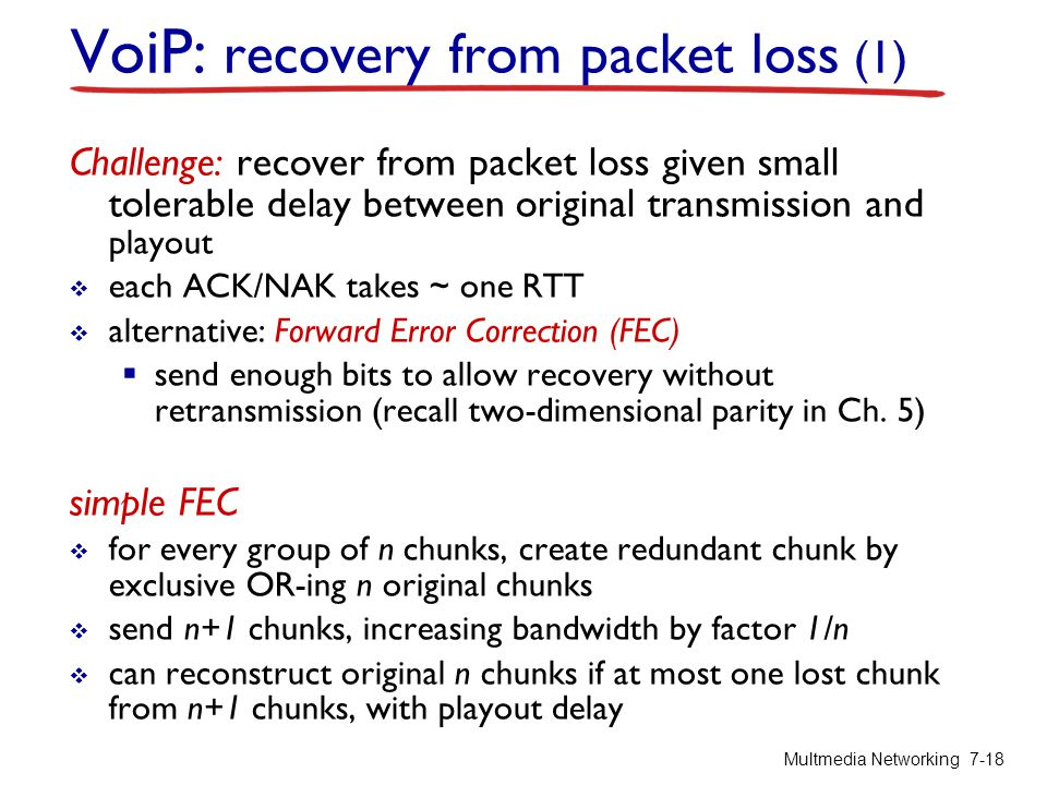 VoiP: recovery from packet loss (1)