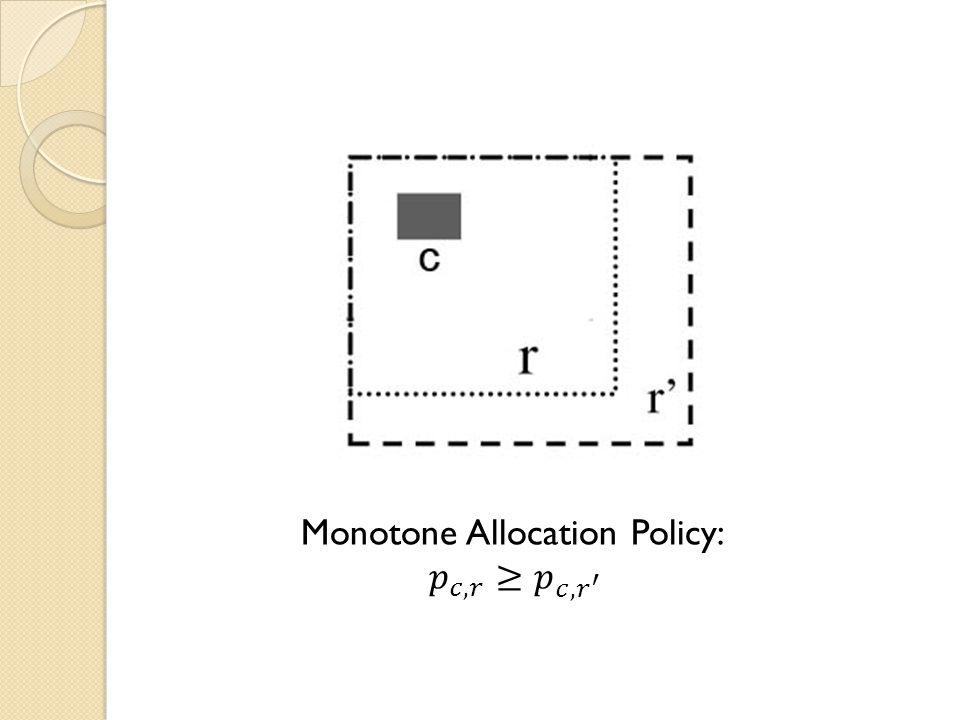 Monotone Allocation Policy: