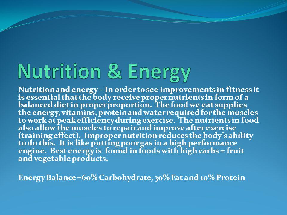 Nutrition & Energy