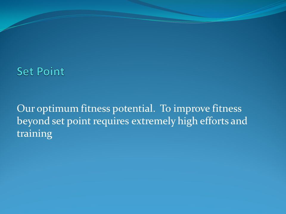 Set Point Our optimum fitness potential.