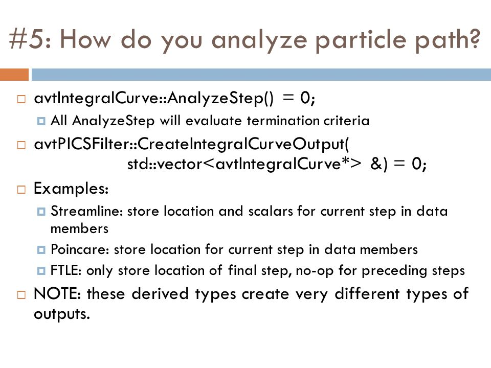 #5: How do you analyze particle path