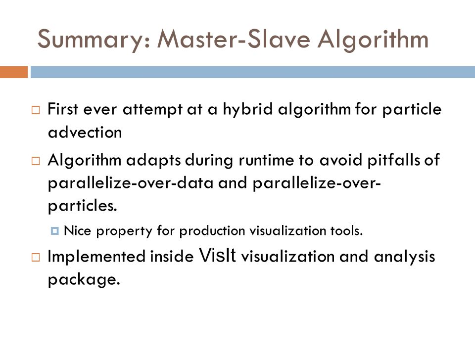 Summary: Master-Slave Algorithm
