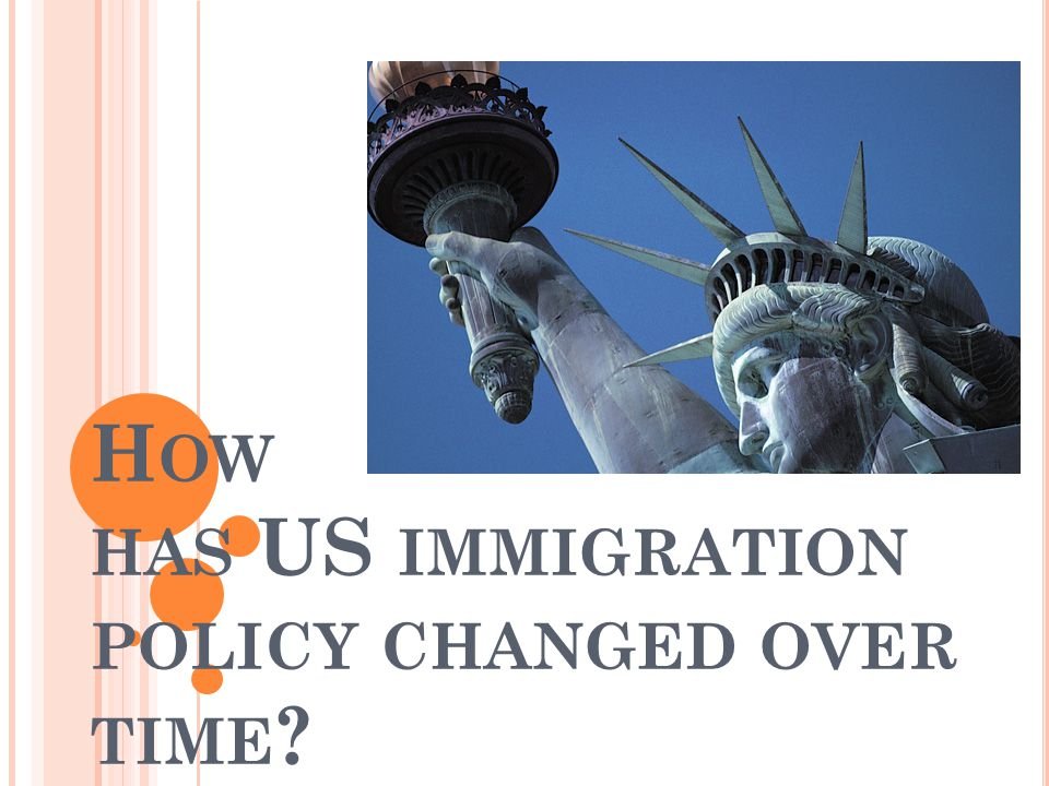 How has US immigration policy changed over time