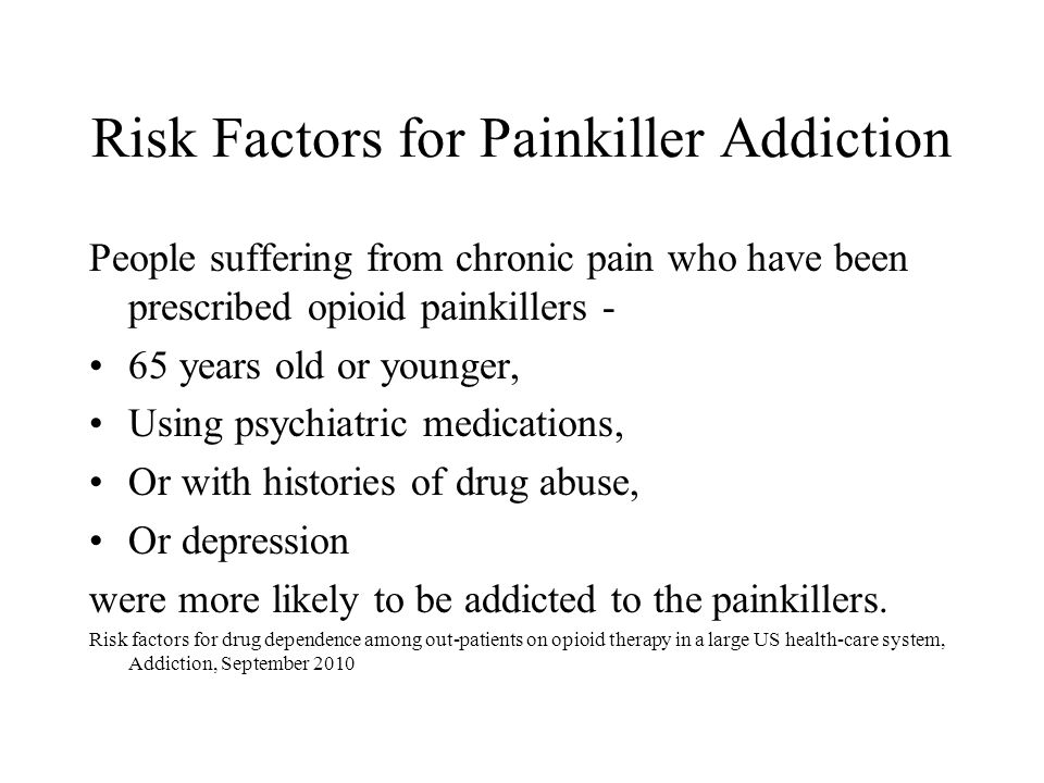 Risk Factors for Painkiller Addiction