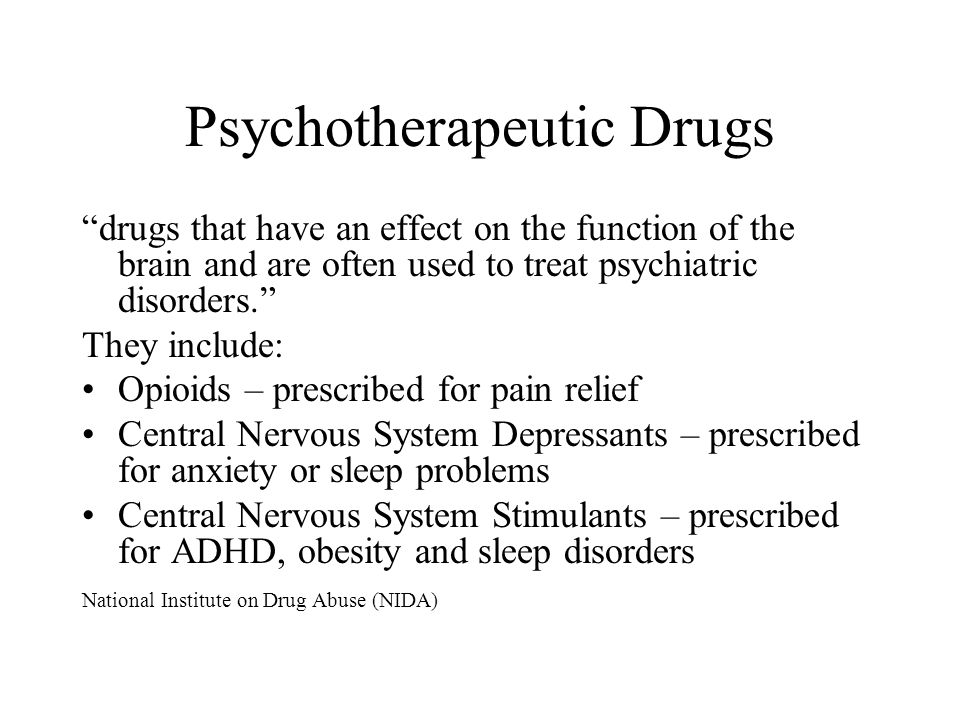 Psychotherapeutic Drugs