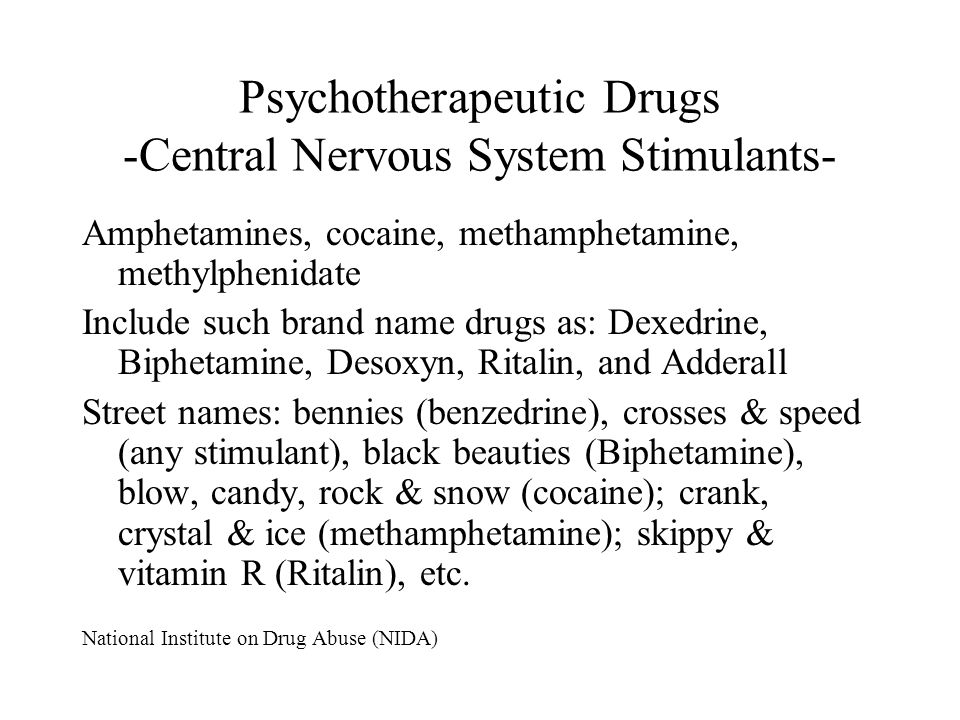 Psychotherapeutic Drugs -Central Nervous System Stimulants-
