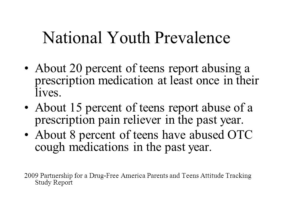 National Youth Prevalence