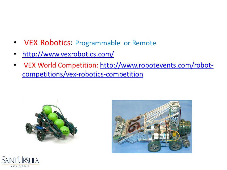 VEX Robotics: Programmable or Remote