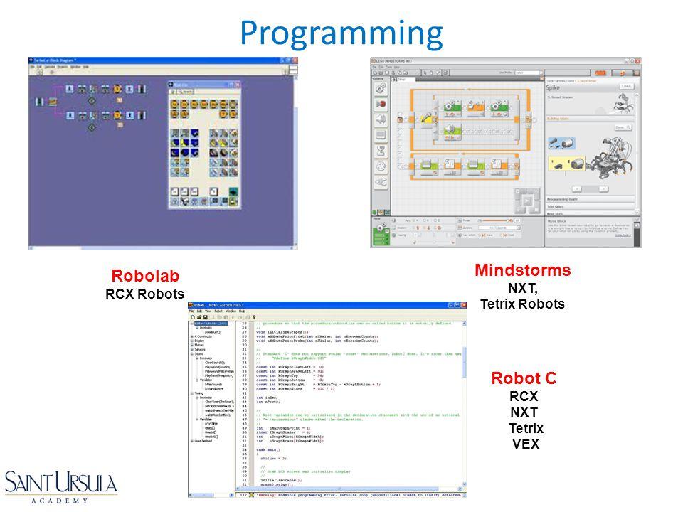 Programming Mindstorms Robolab RCX Robots Robot C NXT, Tetrix Robots
