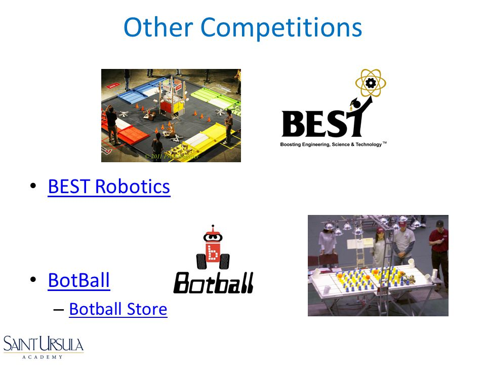 Other Competitions BEST Robotics BotBall Botball Store