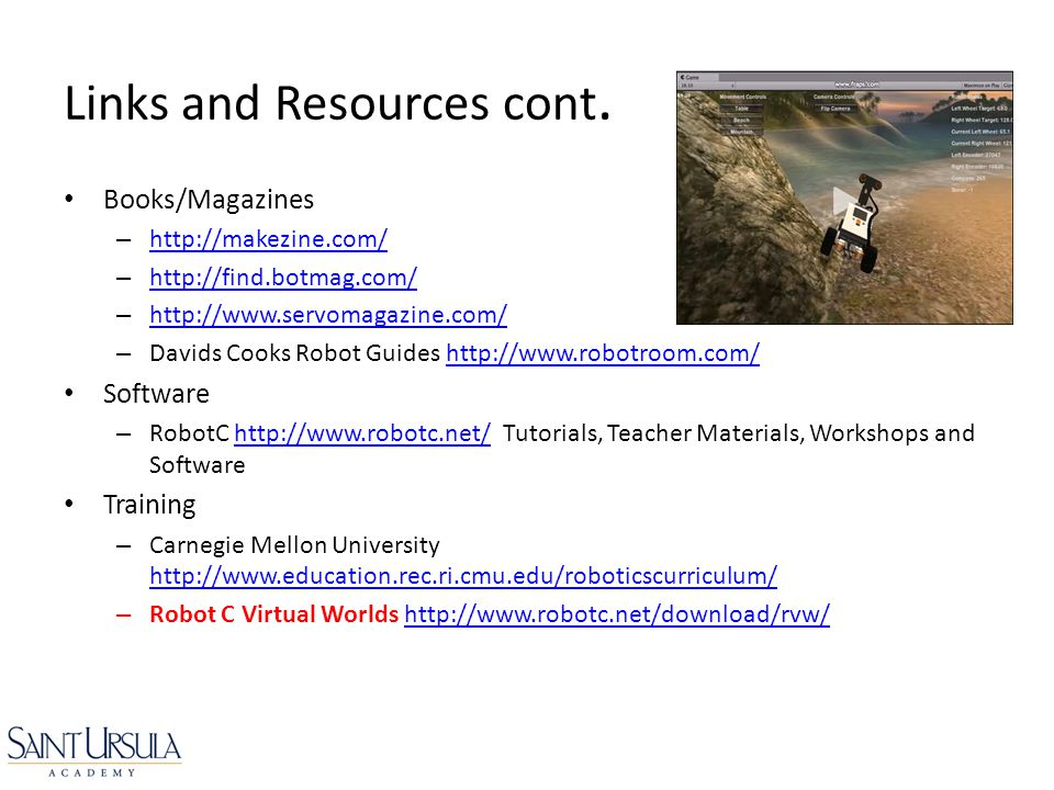 Links and Resources cont.
