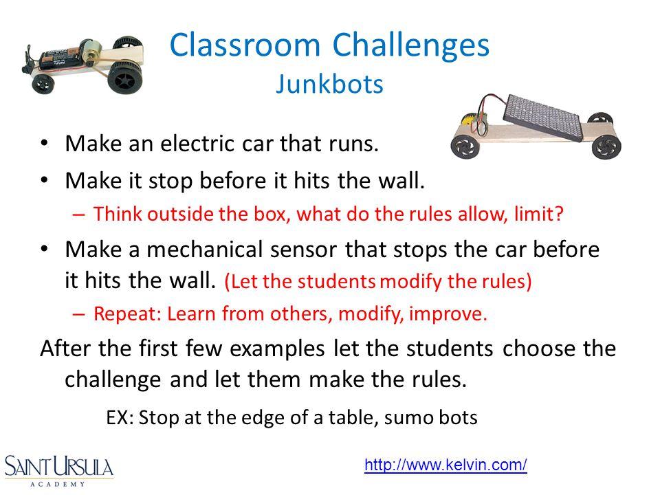 Classroom Challenges Junkbots