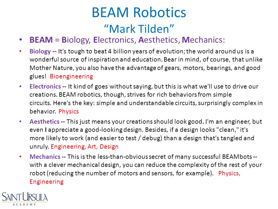 BEAM Robotics Mark Tilden