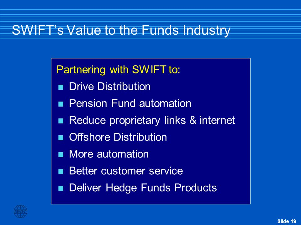 SWIFT's Value to the Funds Industry