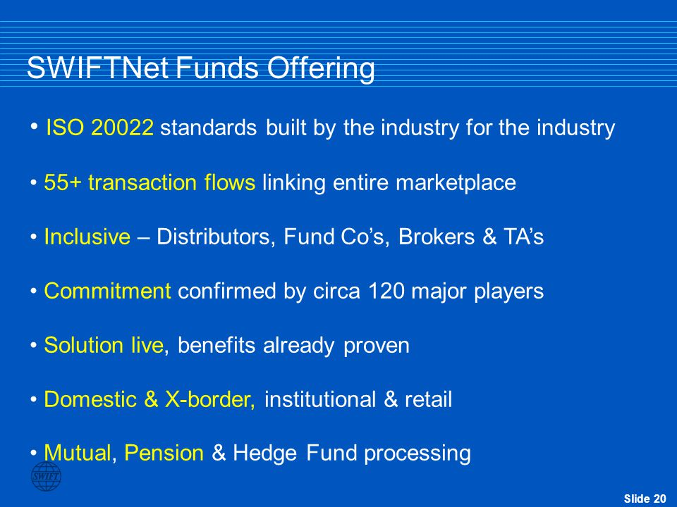 SWIFTNet Funds Offering