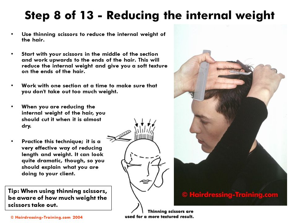 Step 8 of 13 - Reducing the internal weight