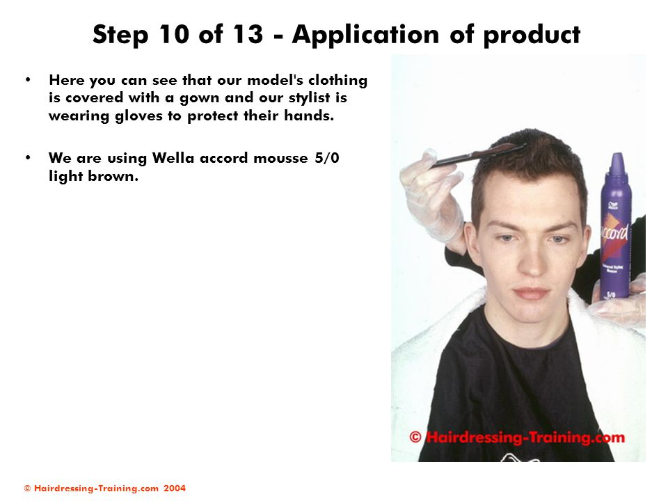 Step 10 of 13 - Application of product